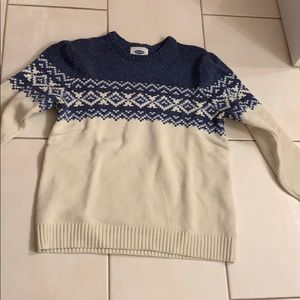 Old Navy Blue and White Sweater XL